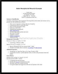Cover Letter Receptionist Resume Samples Top Receptionist Resume
