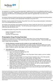 Express Scripts Customer Service Anthem S Prescription Drug Plan Pdf