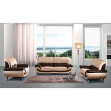 27 two tone leather sofa set by noci design
