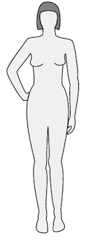 female body outline template female body silhouette front clip art at clker com vector clip art