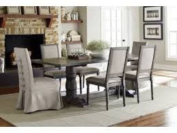 formal dining room sets for 12. PRO12 Gray Dining 7 Piece Set With Upholstered Parsons End Chairs Formal Room Sets For 12