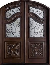 Front Doors front doors houston : Front Door Custom - Double - Solid Wood with Walnut Finish, Heritage ...