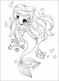 Anime Girl And Boy Coloring Pages Free Anime Mermaid Coloring Pages