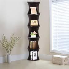 office corner shelf. Yaheetech 5 Tier Brown Round Wall Corner Shelf SKINNY Display Rack Home Office   EBay A