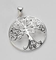 southern gates large round oak tree pendant der p176 sterling silver tree of life charleston