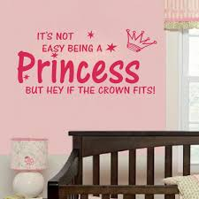 Us 198 17 Offhot Selling Style Pink Quote Not Easy Being A Princess Girl Wall Sticker Vinyl Home Decal For Kids Room Decor 7635cm 1905 In Wall