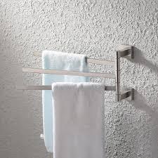bath towel hanger. KES Bath Towel Holder Swing Hand Rack SUS 304 Stainless Steel Bathroom Swivel Bar Hanger