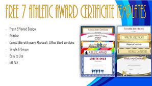 Athletic Certificate Template Word | Biya Templates