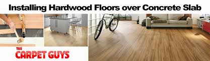can engineered hardwood be installed on concrete slab