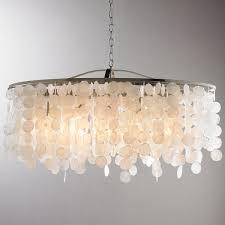 full size of modern capiz shell linear chandelier nickelngular crystal uk with linen shade west elm large
