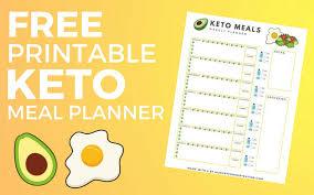 meal planner free free printable keto meal planner