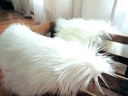 round faux sheepskin rug small faux fur rug gray faux fur rug fake fur rugs area