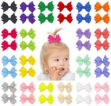 "QtGirl <b>40pcs</b> 2"" <b>Pinwheel Hair</b> Bows Grosgrain Ribbon with Clips for ..."