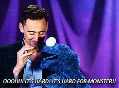cookie monster tom hiddleston gif. Fine Cookie Tom Hiddleston And The Cookie Monster Intended Monster Gif