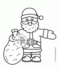 Small Picture Coloring Pages Santa Coloring Pages Printable Santa Claus