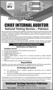 Chief Internal Auditor Jobs In National Testing Service Nts 5th