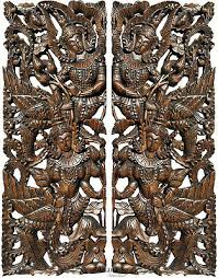 traditional thai figure asian wall art