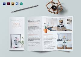 Design Brochure Template Minimal Interior Brochure Template
