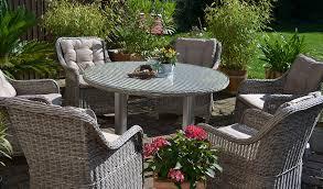 Polyrattan Sitzgruppe Für 6 Personen Runder Tisch Sand Grau