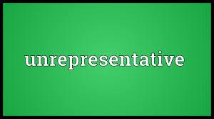 Image result for unrepresentative + images