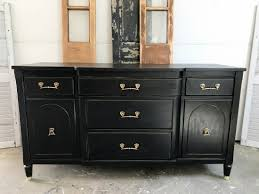 Black Stained Antique Buffet Entri Ways
