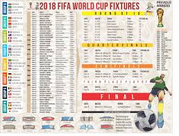2018 Fifa World Cup Football Fixtures The Daily Star
