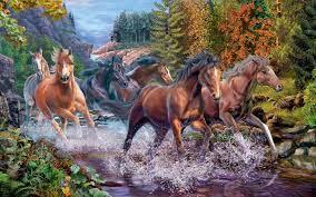 Ravensburger Rushing River Horses Art ...