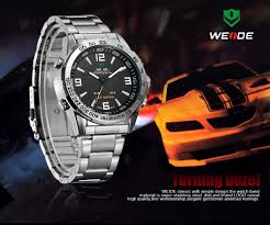 Mens Watches That Light Up Weide Led Light Up Watches Modern Mens Pocket Watches Back Water Quartz Movement 3 Hands Analog Quartz Watch Movement View Led Light Up Watches