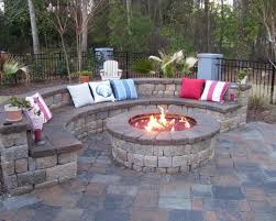 garden design traditional outdoor round patio fire pits building a fire pit patio
