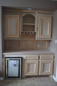 Custom beverage / wine cabinet built on corner space, remodel ...