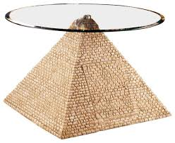 great egyptian pyramid of giza sculptural glass topped table