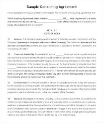 Consulting Contract Template Free Download A Hold Harmless Agreements Free Sample Example Format Free