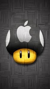 Wallpaper Iphone Hd Keren Mario Apple Logo Download