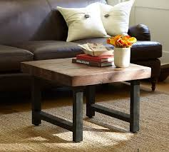 griffin reclaimed wood coffee table griffin reclaimed wood cube table pottery barn