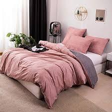 omelas 2pcs blush pink gray duvet cover