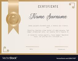 Certificate Award Template Blank In Gold