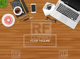 wooden desk top view. Perfect View Workplace On Wooden Table  Top View Vector Image U2013 Artwork Of  Objects  Sonneon  And Wooden Desk Top View