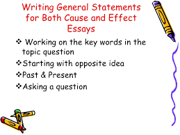 cause effect essay powerpoint new writing general statements for both cause and effect essays