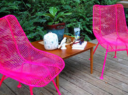 how to paint metal chairs tos diy