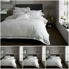 details about devore embroidered hotel collection duvet cover king size reversible bedding set