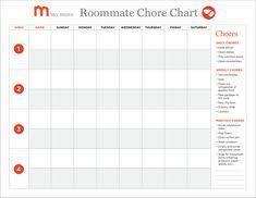 Apartment Chore Chart 20 Best Roommate Chore Chart Images Adult Chore Chart Chore
