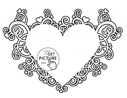 Small Picture Valentines Heart coloring page for kids for girls coloring pages