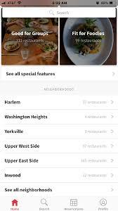 restaurant menu design app design critique opentable mobile app ixd pratt