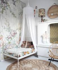 beautiful ikea girls bedroom. adorable vintage inspired feminine girls room with floral wallpaper and ikea minnen bed beautiful ikea bedroom o