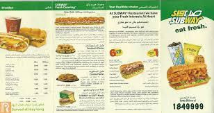 subway menu 2013. Perfect Menu Subway Kuwait Delivery Menu And Prices Throughout 2013 3