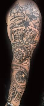Tattoos Casino Designs Gambling Sleeve By Toby Harris Poker Tattoo Vegas Tattoo