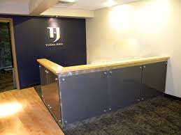 Home office furniture medical reception desk with green salon lighting. reception  desks featuring interesting and intriguing designs view in gallery.