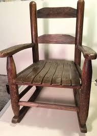 vintage child39s wooden oak rocking chair kids doll small vintage wooden rocking chair