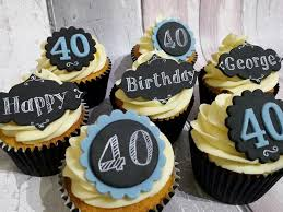 40th Birthday Cupcakes For Men Shoes In 2019 40th Birthday