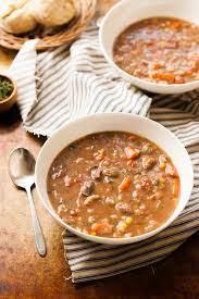 slow cooker beef vegetable barley soup